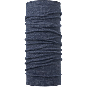 Buff Lightweight Merino Wool Scaldacollo tubolare, edgy denim